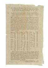 (AMERICAN REVOLUTION--BROADSIDE.) Connecticut, State of. An Act to Ascertain the Current Value of Continental Bills of Credit