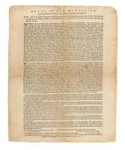 (AMERICAN REVOLUTION--BROADSIDE.) New Hampshire, State of. An Act to Prevent the Return to this State of Certain Persons.