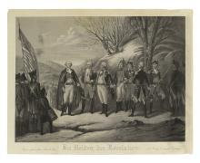 (AMERICAN REVOLUTION--PRINTS.) Girsch, Frederick; engraver. Die Helden der Revolution.