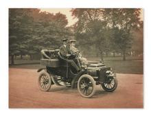 (AUTOMOBILES.) Group of photographs and ephemera relating to automotive pioneer George Baldwin Selden.