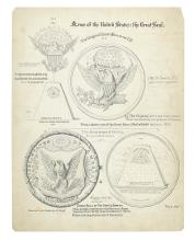 (ART.) Archive of original renderings and papers of noteworthy draftsman J. Goldsborough Bruff.
