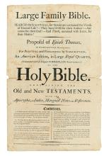 (BIBLE IN ENGLISH--PROSPECTUS.) Thomas, Isaiah. Large Family Bible. Search the Scriptures,