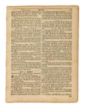 (BIBLE IN GERMAN.) Yoder, Don; editor. The German Bible in America, with 25 Original Leaves.