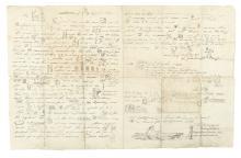 (CALIFORNIA.) Bruff, J. Goldsborough. Rebus letter about his gold-mining adventures.