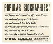 (CIVIL WAR--BROADSIDE.) Broadside advertisement for recently published books on the war.