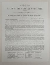 (CIVIL WAR--CONNECTICUT.) Address of the Union State Central Committee upon the Constitutional Amendment