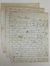 (CIVIL WAR--NEW YORK.) Delong, Baltis. Letter describing the disastrous assault on Marye's Bluff at Fredericksburg.