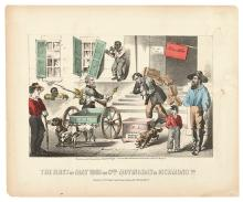 (CIVIL WAR--PRINTS.) Kimmel & Forster; lithographers. The First of May 1865, or Genl. Moving Day in Richmond Va.