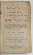 (EARLY AMERICAN IMPRINT.) Willard, Samuel. A Compleat Body of Divinity in Two Hundred and Fifty Expository Lectures.