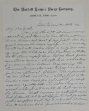 (NEW MEXICO.) Arms, Henry M. Report from a sheep rancher in northern New Mexico.