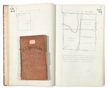 (NEW YORK.) Field notebooks and other records of Plattsburgh surveyor Henry Ketchum Averill, Jr.