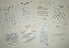 (TEXAS.) Archive of Sam Rayburn's legislative correspondence as House Majority Leader.