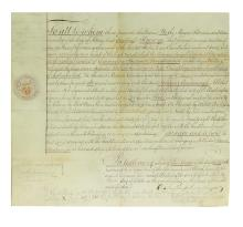 (WAR OF 1812.) Grant of land to Commodore Thomas MacDonough by the grateful city of Albany.
