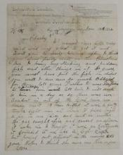 (WYOMING.) Steere, S.H. Letter describing a mine disaster and the Mormons of his town.