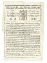 (PERU--1797.) Carta donde con todas veras del corazon me dedico por cofrade, y ofrezco por esclavo de la santisima Virgen Maria.
