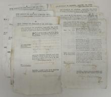 (PERUVIAN MANUSCRIPTS.) Group of 8 receipts for silver provided to the mint.