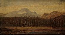 THOMAS HILL Landscape with a Frontier House.