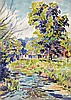 JOHN PIERCE BARNES Group of 5 watercolors.