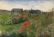 GEORGE C. AULT Poppy Field in Bloom.