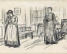 WILLIAM GLACKENS Two Women in an Interior.