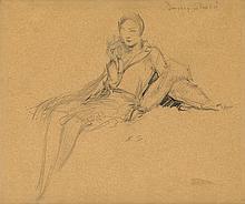 EVERETT SHINN Portrait of Dorothy Shoulin.