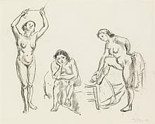 JOHN SLOAN Studies of Female Nudes.