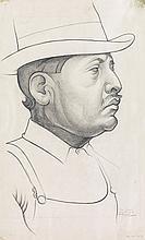 JEAN CHARLOT Portrait of a Man.