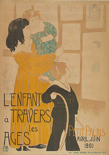 CLEMENTINE-HELENE DUFAU (1869-1937) L'ENFANT A TRAVERS LES AGES. 1901. 54x38 inches. Charles Verneau, Paris.