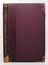 ADAMS, JOHN COUCH. Bound volume containing 17 offprints or reprints of papers on astronomy and mathematics.  1854-88