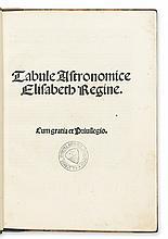 ALFONSO DE CÓRDOBA. Tabule Astronomice Elisabeth Regine.  1503