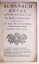 ALMANAC.  Almanach Royal, Année Bissextile MDCCLXXXVIII.  1787