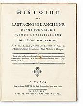 BAILLY, JEAN-SYLVAIN. Histoire de l'Astronomie Ancienne. 1775