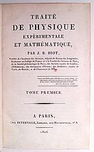 BIOT, JEAN-BAPTISTE. Traité de Physique Expérimentale et Mathématique.  4 vols.  1816