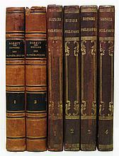 BOSSUT, CHARLES. Histoire Générale des Mathématiques. 2 vols. 1810 + LIBES, ANTOINE. Histoire . . . de la Physique. 4 vols. 1810-13