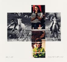 JOHN BALDESSARI The Intersection Series: Person on Horse and Person Falling from Horse, with Audience.
