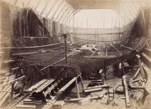(SHIPBUILDING ALBUM) An album containing photographs of the British shipbuilders Cammell Laird and the battleship HMS Royal Oak,