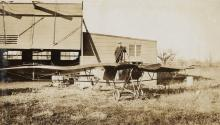 (AVIATION) A dramatic album featuring 288 photographs related to early aviation.