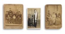 (JUDAICA) Trio of rare photographs, comprising a cabinet