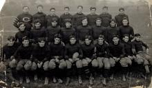 (THORPE, JIM) Group portrait of the Carlisle Indian Industrial School's football team, with player Jim Thorpe (1887-1953)