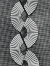 MATHER, MARGRETHE (1885-1952) A pair of variant images of a fan strip.
