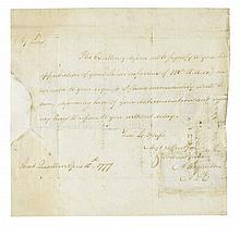 (AMERICAN REVOLUTION.) ALEXANDER HAMILTON. Autograph Letter Signed,