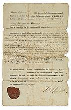 (AMERICAN REVOLUTION.) THOMAS JEFFERSON. Partly-printed Document Signed,