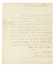 (AMERICAN REVOLUTION.) GEORGE WASHINGTON. Letter Signed,