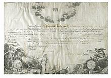 (AMERICAN REVOLUTION.) GEORGE WASHINGTON. Partly-printed vellum Document Signed,