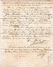 (CIVIL WAR.) GAIL BORDEN. Autograph Letter Signed, twice (
