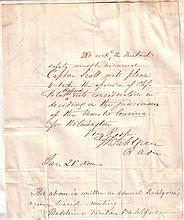 (CIVIL WAR.) JOHN A. DAHLGREN. Autograph Note Signed,