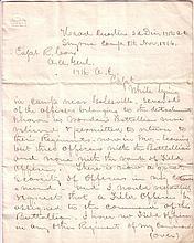(CIVIL WAR.) MORTIMER DORMER LEGGETT. Autograph Letter Signed,
