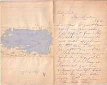 CUSTER, ELIZABETH BACON. Autograph Letter Signed, 'Elizabeth B. Custer,