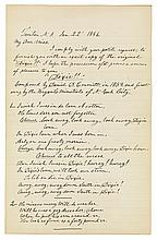 EMMETT, DANIEL D. Autograph Manuscript dated and Signed,