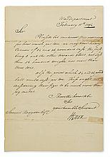 KNOX, HENRY. Letter Signed,